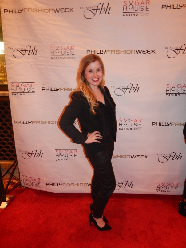 Stopping for a quick photo op on the red carpet at the luxury menswear show at the Ritz Carlton