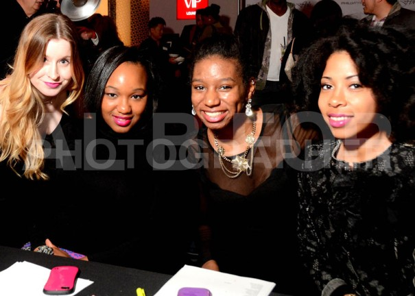 Posing with my PR ladies, Nichole Martin, Ayanna Harris and Beverly Thomas at Philly Fashion Week's 2014 kick-off party