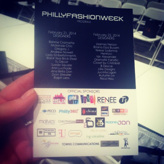Philly Fashion Week 2014 Designer and Sponsors List