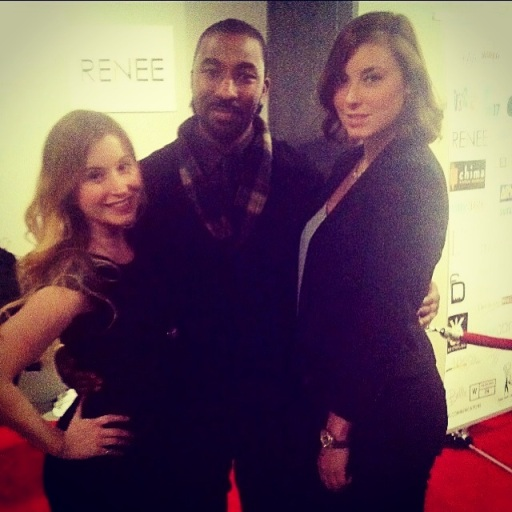 Kate Bishop (me), Alloyius McIlwaine of Cultures Clothing, Carley Pugh at Philly Fashion Week 2014